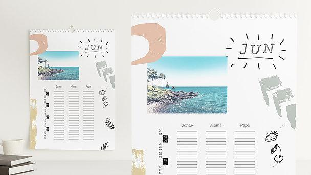 Fotokalender - Bunt durchs Jahr Familienkalender