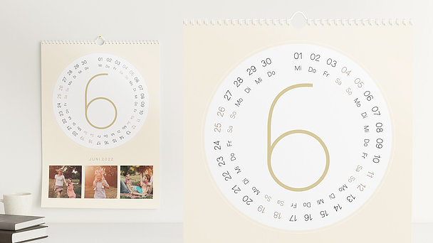 Fotokalender - Runde Monate
