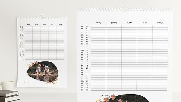 Fotokalender - Lass Blumen sprechen Familienplaner