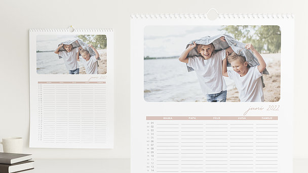 Fotokalender - Notizblatt Familienplaner