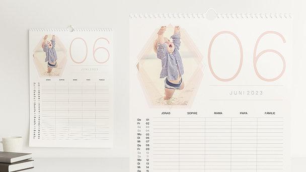 Fotokalender - Polygon Familienplaner