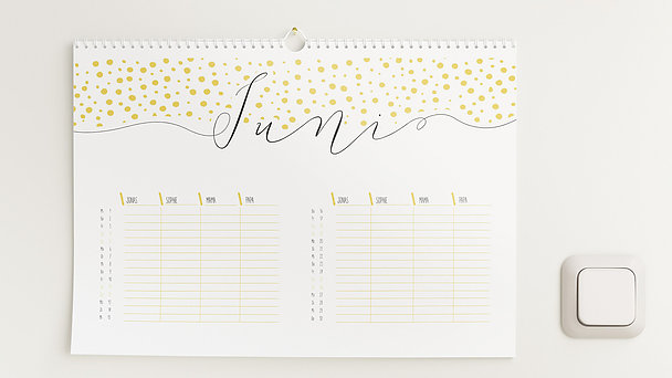 Fotokalender - Klaviatur Familienplaner