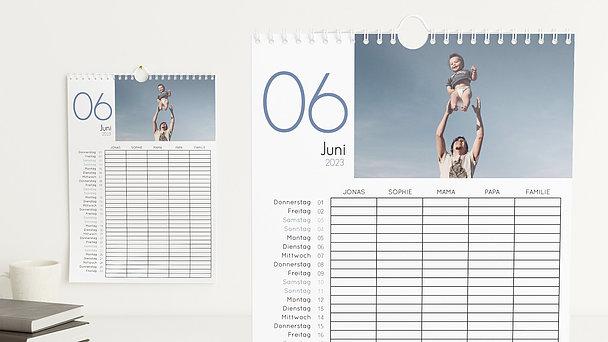 Fotokalender - Lebendige Momente Familienkalender