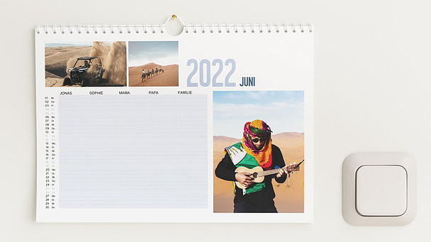 Fotokalender - Jahresweiser Familienkalender