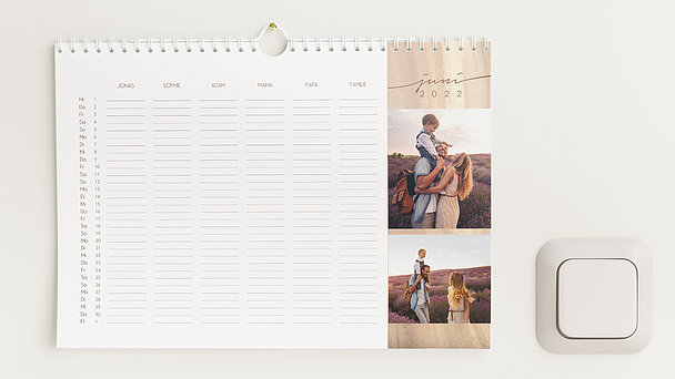 Fotokalender - Jahresringe Familienkalender