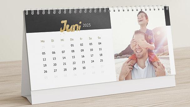 Fotokalender - Goldenes Kalendarium Tischkalender