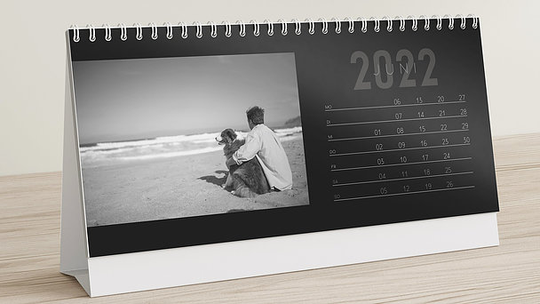 Fotokalender - 12 elegante Monate Tischkalender