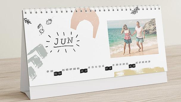 Fotokalender - Bunt durchs Jahr Tischkalender