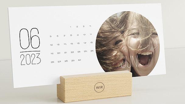 Fotokalender - Rundes Jahr Tischkalender