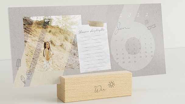 Fotokalender - Familiengeschichten Tischkalender