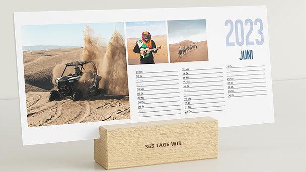 Fotokalender - Jahresweiser Tischkalender