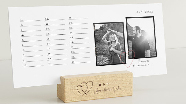 Fotokalender - Days to remember Tischkalender