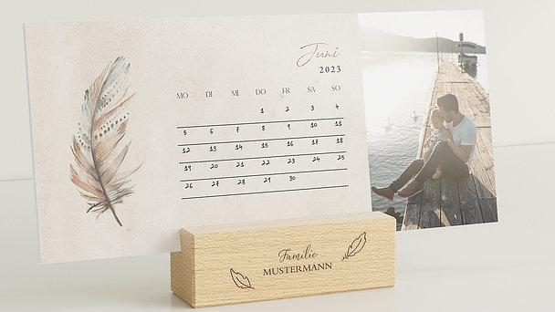 Fotokalender - Federleichtes Jahr Tischkalender