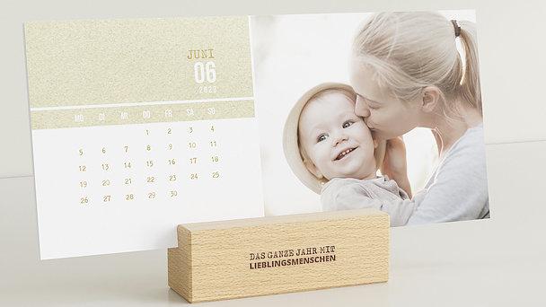 Fotokalender - Zarte Sprenkel Tischkalender