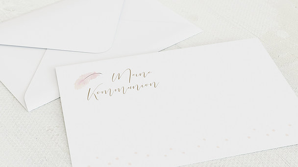 Umschlag mit Design Kommunion - Federzart