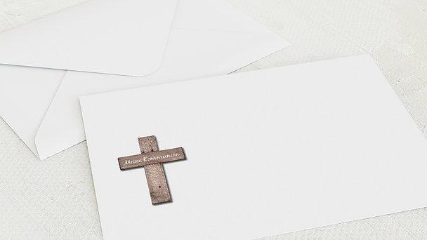 Umschlag mit Design Kommunion - Kreuz mit Fotos