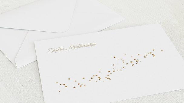 Umschlag mit Design Kommunion - Geflitter Kommunion