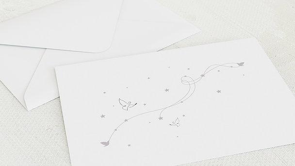 Umschlag mit Design Kommunion - Herz & Sterne