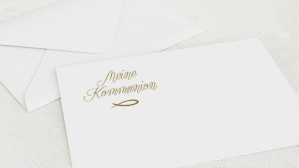 Umschlag mit Design Kommunion - Sonnentag