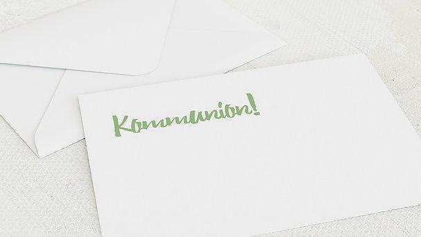 Umschlag mit Design Kommunion - Im Mittelpunkt Kommunion