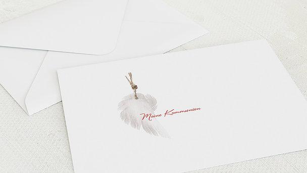 Umschlag mit Design Kommunion - Geflügelt