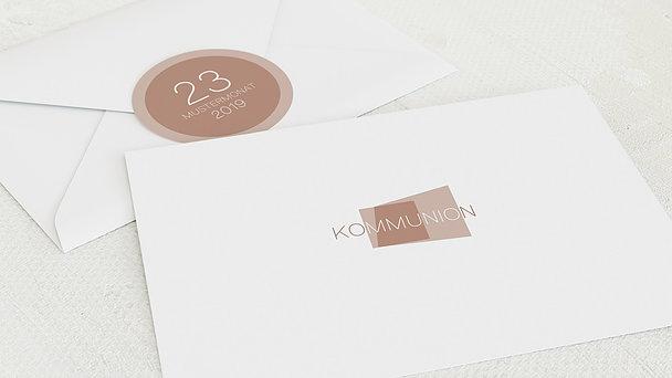 Umschlag mit Design Kommunion - Traumtag