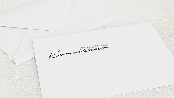 Umschlag mit Design Kommunion - Sprudelnd