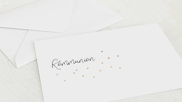 Umschlag mit Design Kommunion - Konfettifreude
