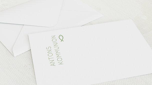 Umschlag mit Design Kommunion - Reines Herz Kommunion
