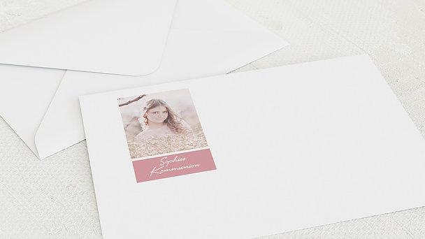 Umschlag mit Design Kommunion - Feenland