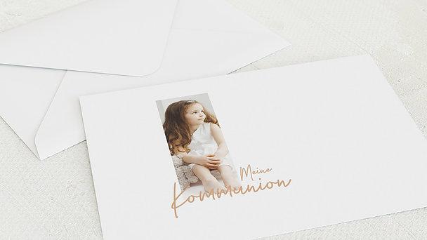 Umschlag mit Design Kommunion - Elegante Freude