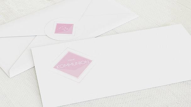 Umschlag mit Design Kommunion - Bunt gefächert