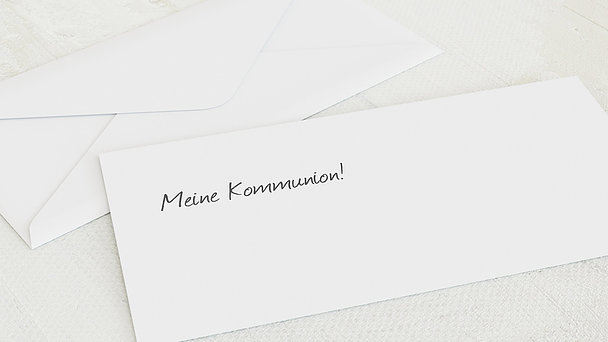 Umschlag mit Design Kommunion - Getäfelt jung