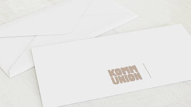 Umschlag mit Design Kommunion - Fototext