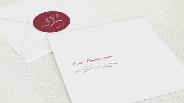 Umschlag mit Design Kommunion - Wellig