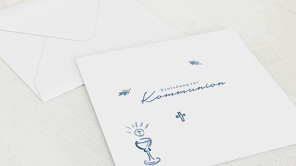 Umschlag mit Design Kommunion - Feierliches Abendmahl