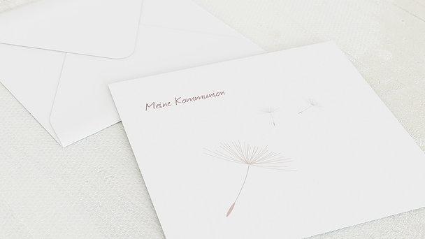 Umschlag mit Design Kommunion - Löwenzahn