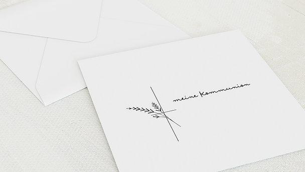 Umschlag mit Design Kommunion - Wiesenkräuter
