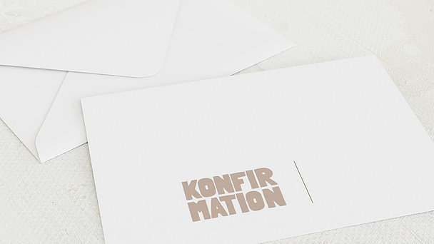 Umschlag mit Design Konfirmation - Fototext