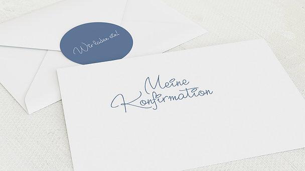 Umschlag mit Design Konfirmation - So schnell groß