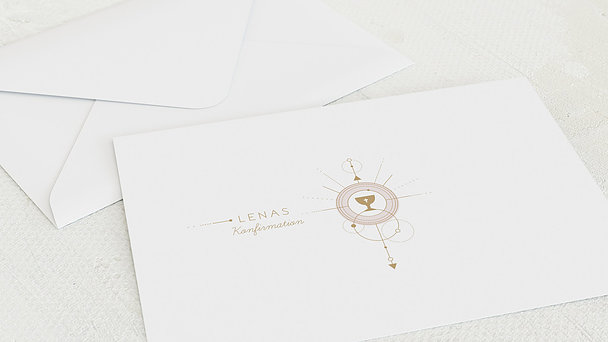 Umschlag mit Design Konfirmation - Heiliger Kelch