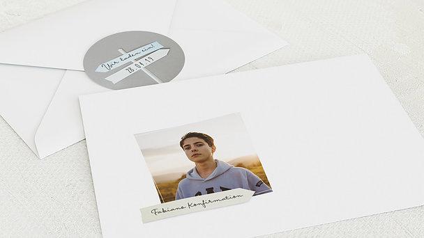 Umschlag mit Design Konfirmation - Wegweiser