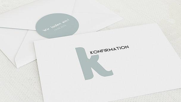 Umschlag mit Design Konfirmation - Symbolik