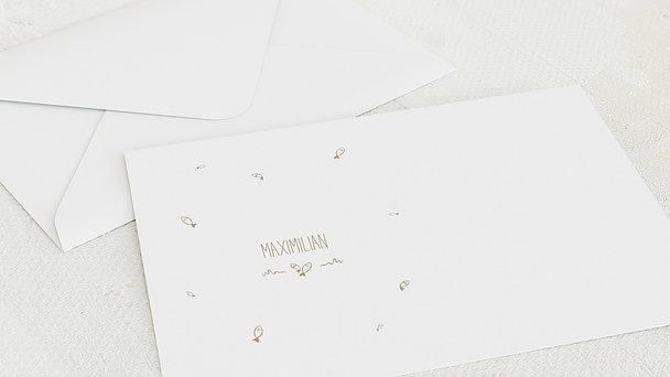 Umschlag mit Design Konfirmation - Rustique
