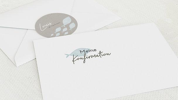 Umschlag mit Design Konfirmation - Frisch Gewagt