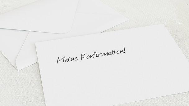 Umschlag mit Design Konfirmation - Getäfelt jung