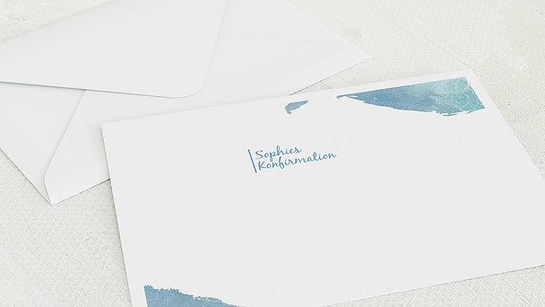Umschlag mit Design Konfirmation - Fisch im Wasser