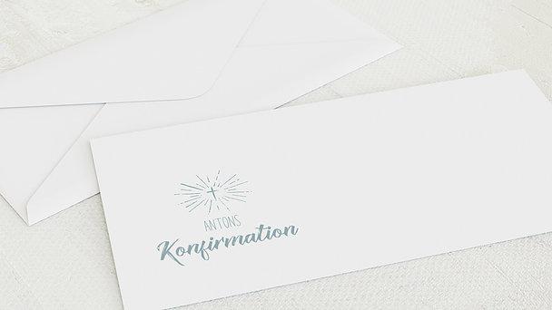 Umschlag mit Design Konfirmation - Ankündigung