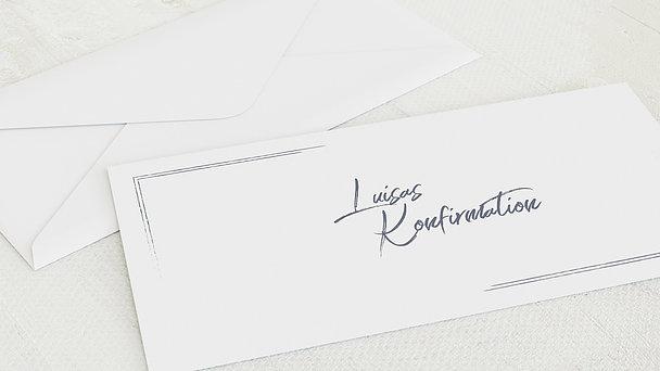 Umschlag mit Design Konfirmation - Tafelglanz