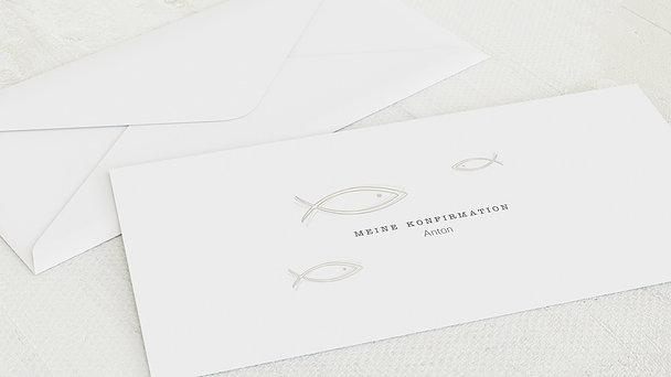 Umschlag mit Design Konfirmation - Schwarm Konfirmation